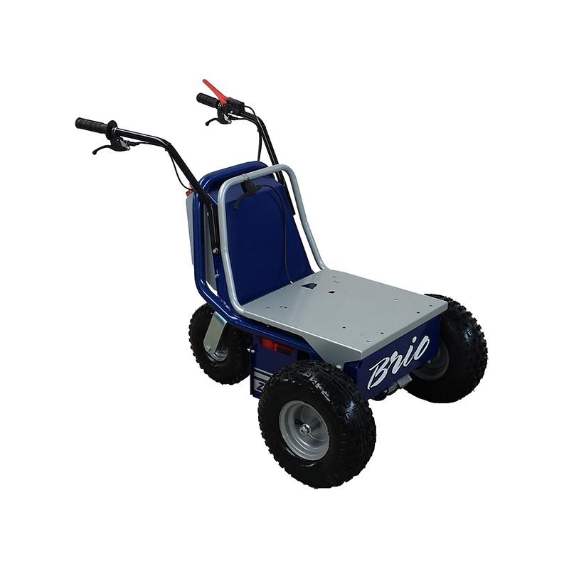 Brio carretilla electrica para 200 kg, con basculante manual ligera